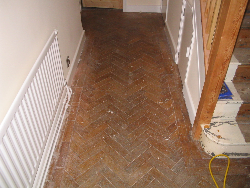 Oak Block / Parquet Hardwood floor Sanding and Sealing by Floorcare services. Oak Parquet flooring Sanded and Sealed with 3 coats of Hard wearing Satin ...