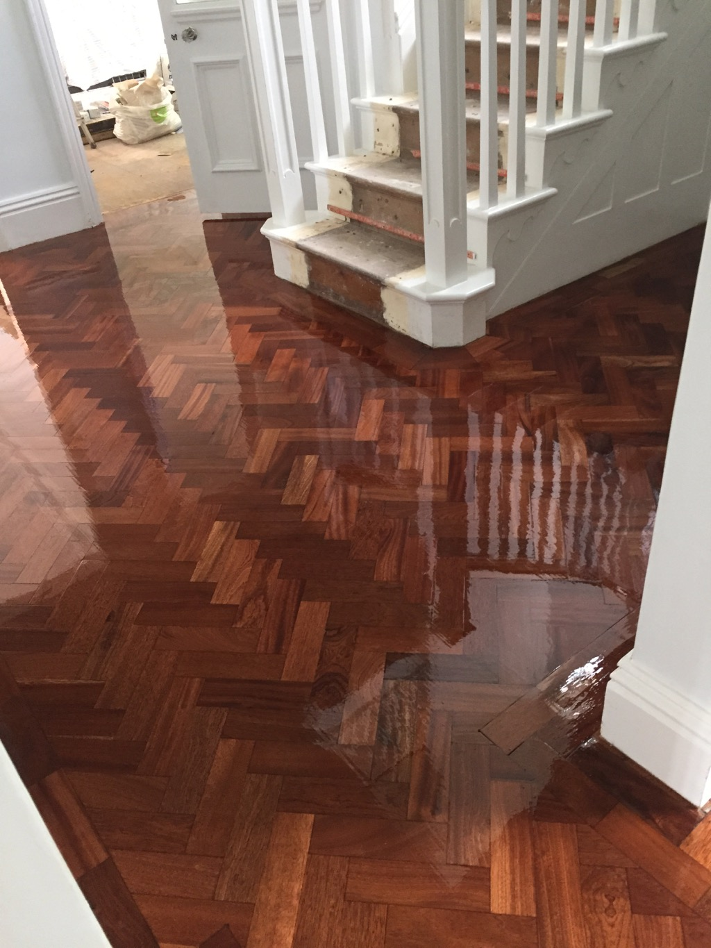 Block / Parquet Hardwood floor Sanding and Sealing by Floorcare Services. Block Parquet flooring Sanded and Sealed with 1 coat of Floortech Products ...